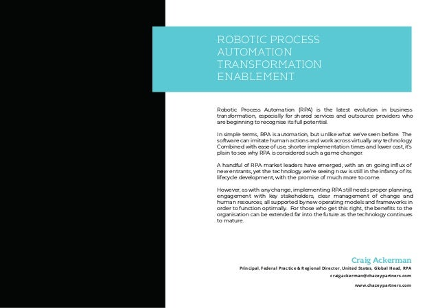 Robotic Process Automation End-to-End Implementation Roadmap