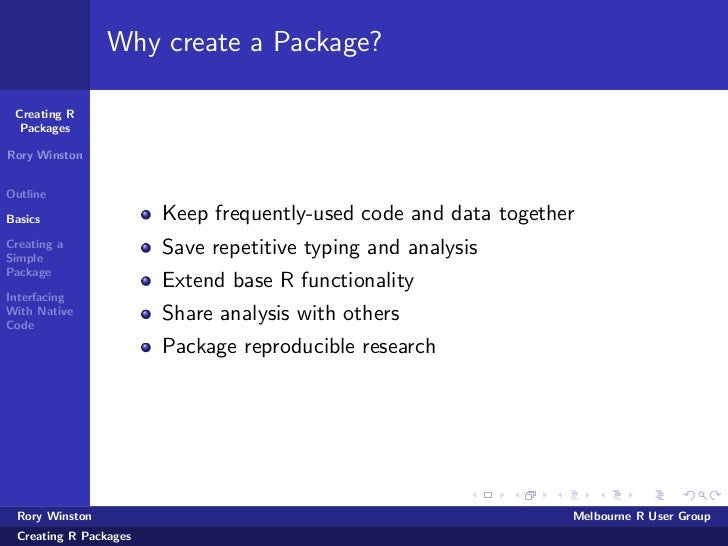 Creating R Packages