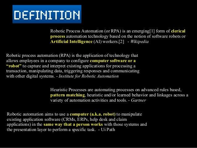 Robotic Process Automation A Cohesive View