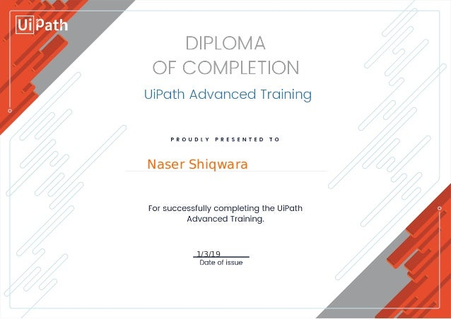 Rpa developer advanced diploma level 3