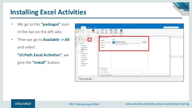 UiPath Excel Automation | UiPath Excel Activities | UiPath