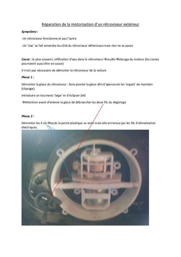 R paration de la motorisation d 39 un r troviseur for Reparation retroviseur exterieur
