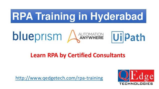 RPA Training Hyderabad - Blue Prism, Automation Anywhere