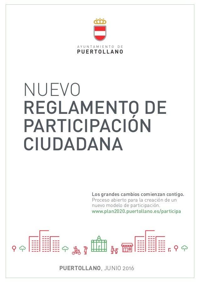 BORRADOR INICIO PROCESO DE PARTICIPACIÓN !1 Participación Ciudadana | Ayuntamiento de Puertollano NUEVO REGLAMENTO DE PART...