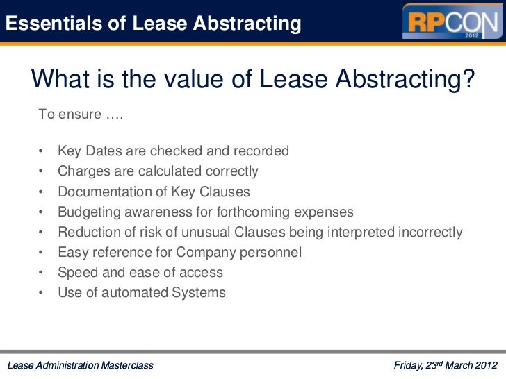 Rpcon masterclass s203-essentials-lease-abstracting - julie ricci