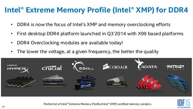 IDF'15 SF] RPCS001 — Overclocking 6th Generation Intel® Core