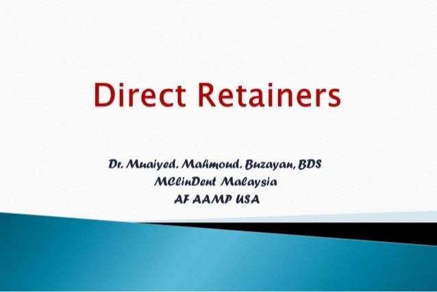 Rpd  direct retainers 2nd yr