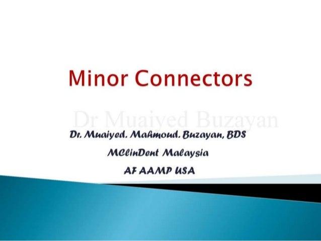 Rpd minor connectors 2nd yr
