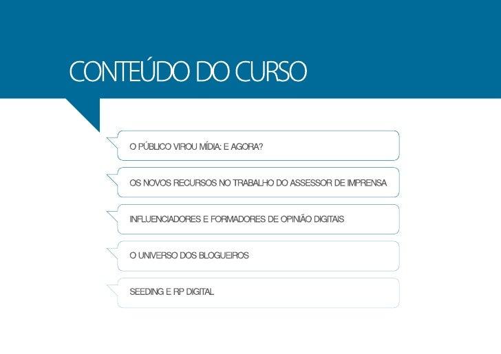 RP e Assessoria de Imprensa Digital - 2º curso Slide 3