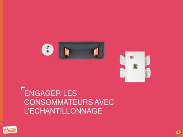 ENGAGER LES CONSOMMATEURS AVEC L'ECHANTILLONNAGE