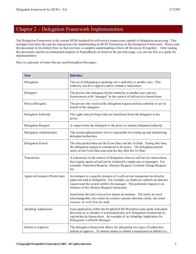 delegation framework