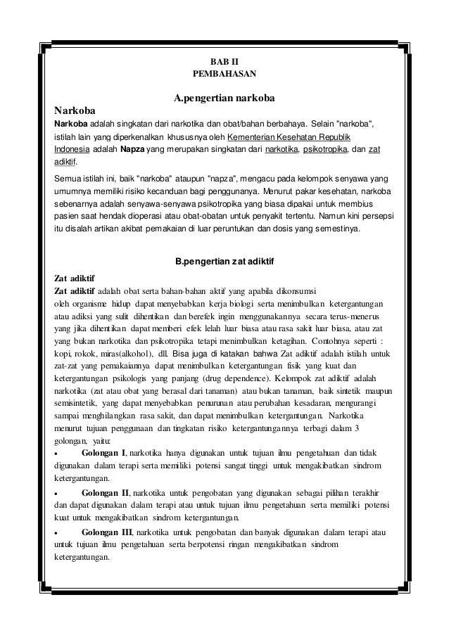 Artikel Zat Adiktif Dan Psikotropika