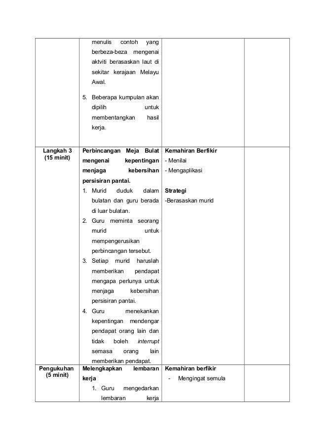 Rph Sejarah Tahun 4 Kedudukan Kerajaan Kerajaan Melayu Awal