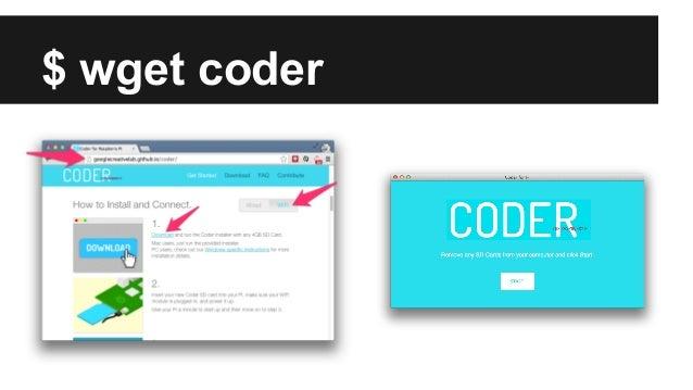 RaspberryPI + Google Coder Slide 3