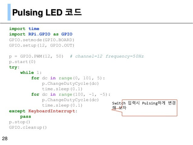 Raspberry Pi GPIO Programming with Python