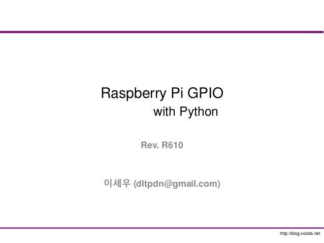 Raspberry-PI GPIO with Python
