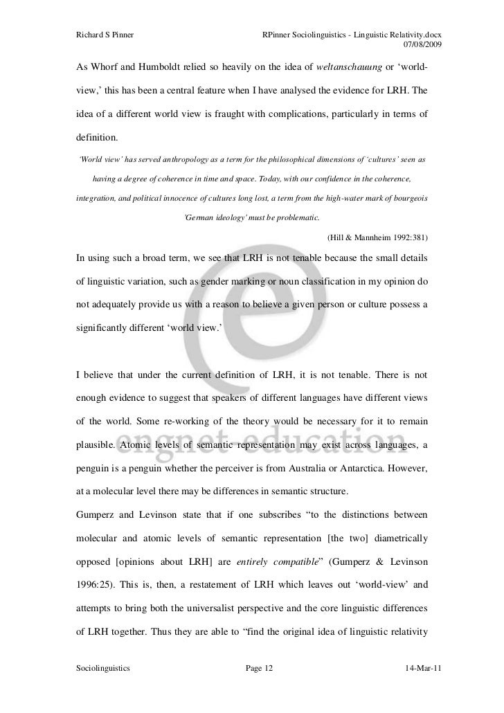 essay sociolinguistics Globalising sociolinguistics challenging the anglo-western nature of sociolinguistics and expanding theories abstracts (in alphabetical order) christopher agbedo (university of nigeria, nigeria) patterns of linguistic variation and potential change in elugwu-ezike speech community, southeast nigeria this paper.