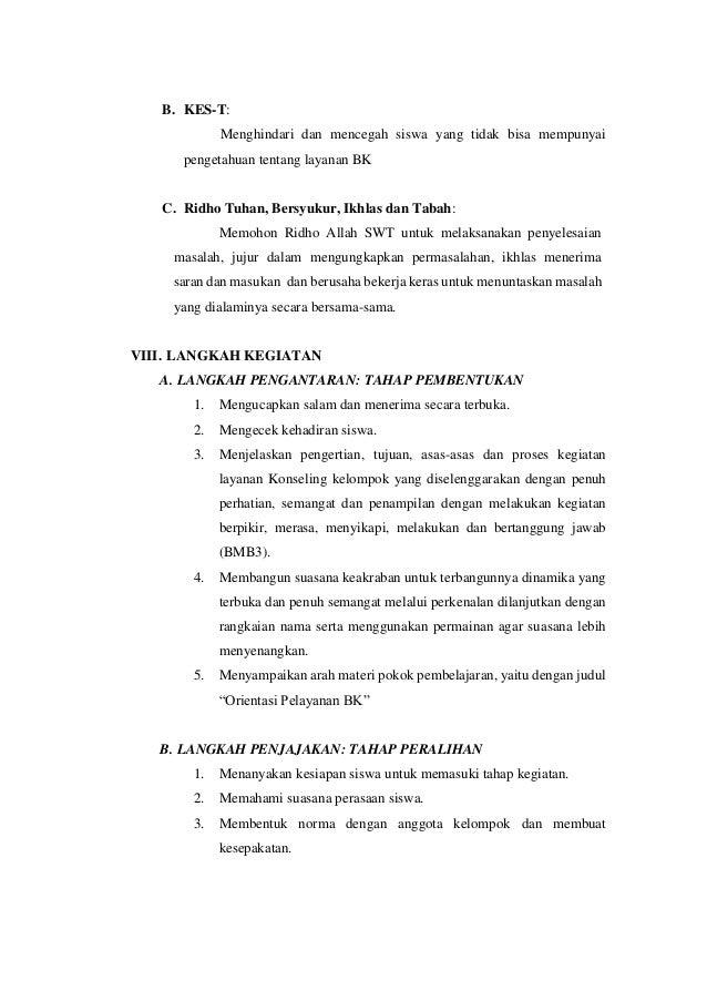 Contoh Rpl K13 Konseling Kelompok