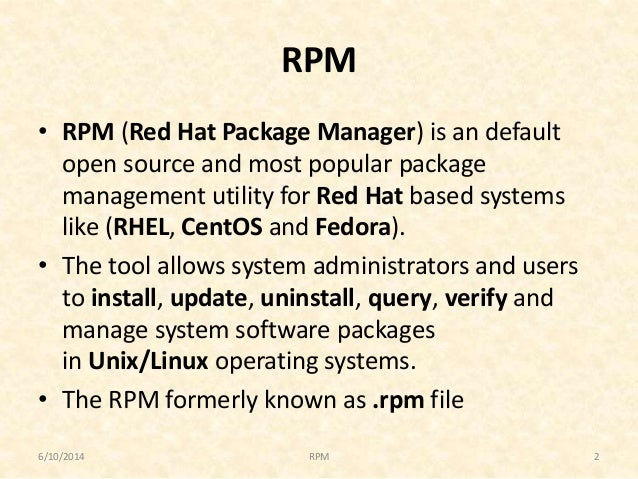 centos package manager
