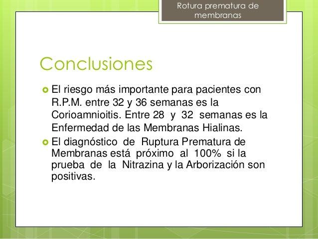 RPM RUPTURA PREMATURA DE MEMBRANA CHILE 2014