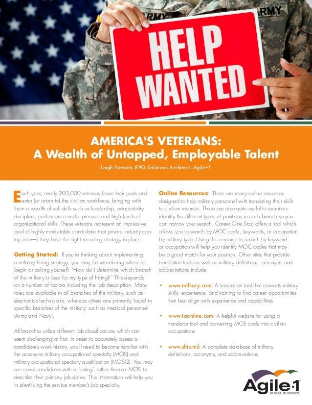 Recruiting American Veterans
