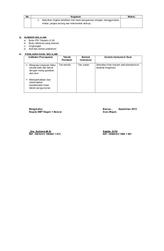 Rpp 1 3 Melakukan Pengukuran Dasar Secara Teliti Dengan Menggunakan A