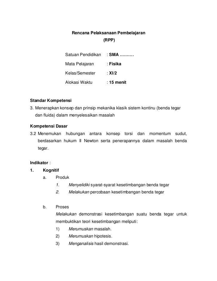 Rencana Pelaksanaan Pembelajaran                                        (RPP)                    Satuan Pendidikan    : SM...