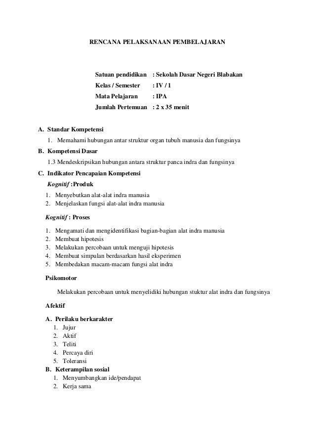 RENCANA PELAKSANAAN PEMBELAJARAN                      Satuan pendidikan : Sekolah Dasar Negeri Blabakan                   ...