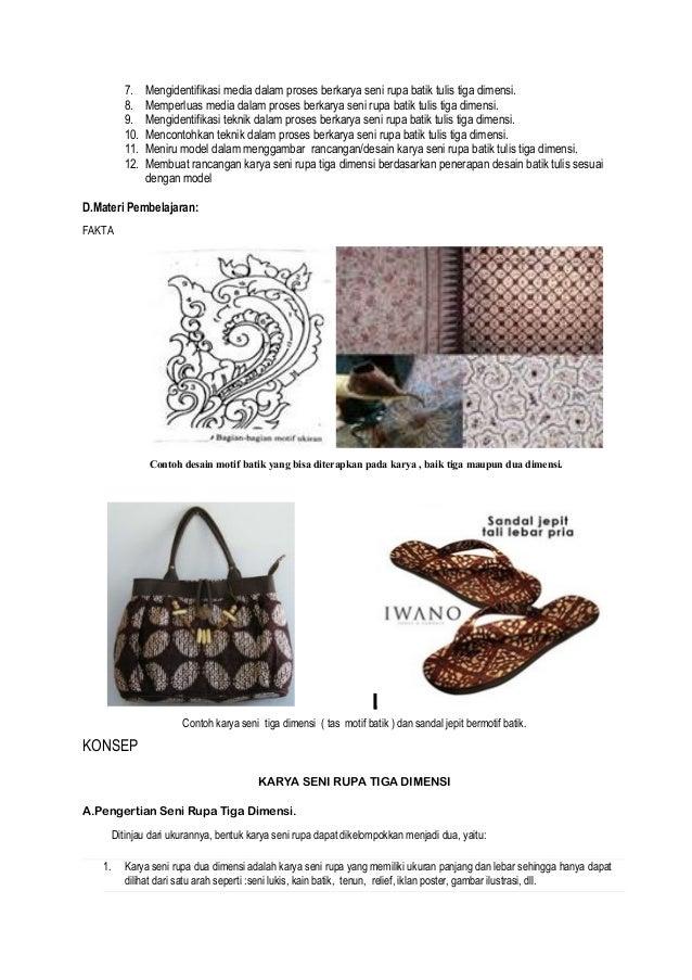 Contoh Karya Seni Rupa 2 Dimensi Batik - Berbagai Contoh