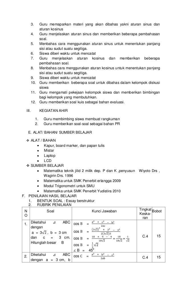 Rpp. 7.3 aturan sinus dan kosinus Slide 2