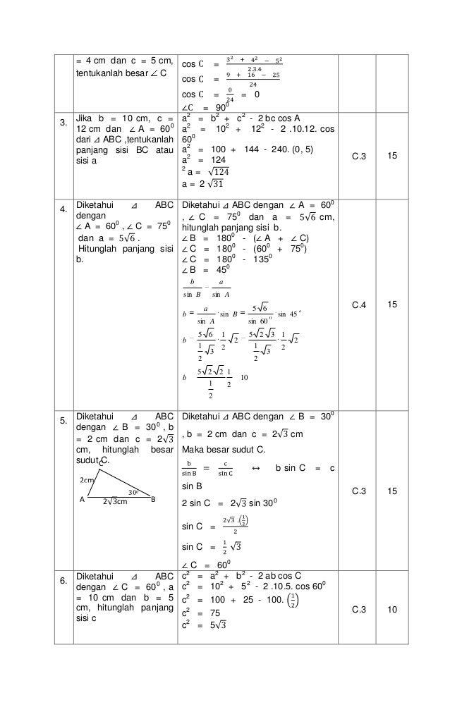 Rpp. 7.3 aturan sinus dan kosinus Slide 3