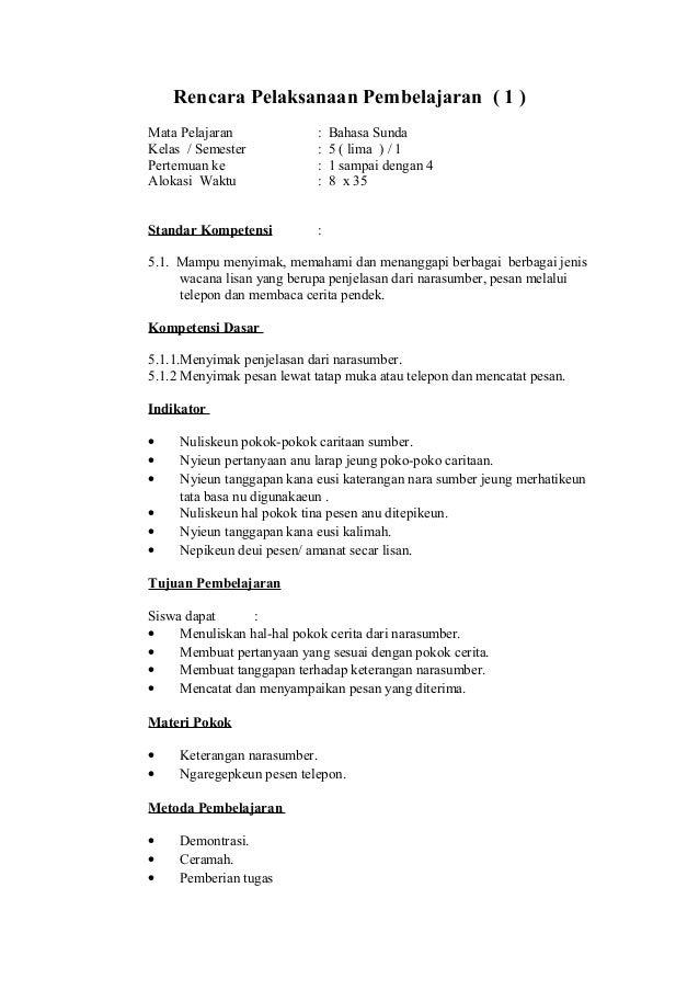 Rpp B Sunda Kelas 5 Smt 1