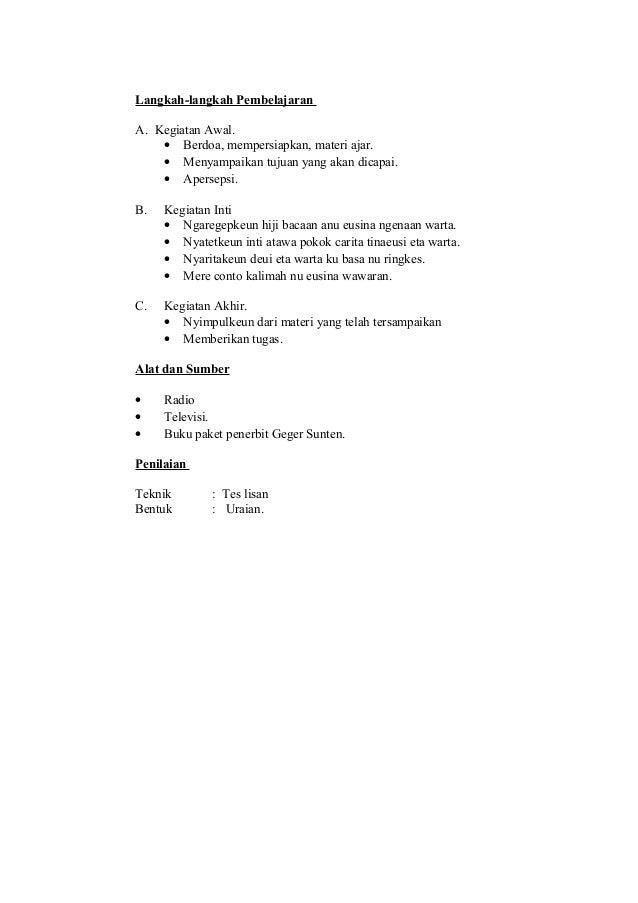 Rpp B Sunda Kelas 6 Smt 1