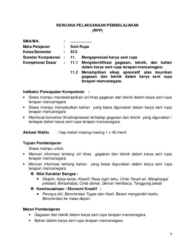 Rpp Sma Bahasa Indonesia Berkarakter Rpp Silabus Sma Berkarakter Agus Chandra Rpp Bahasa