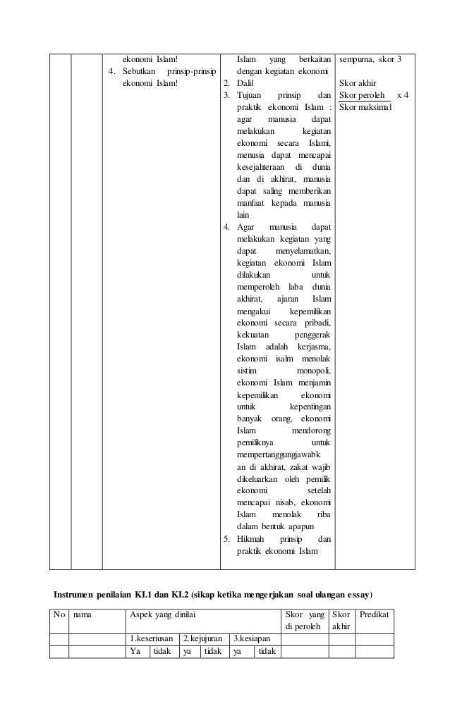 Rpp Ekonomi Islam