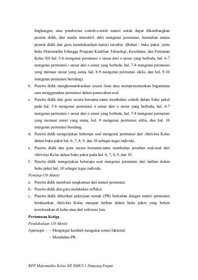 Contoh Rpp Buku Besar Pomegranate Pie