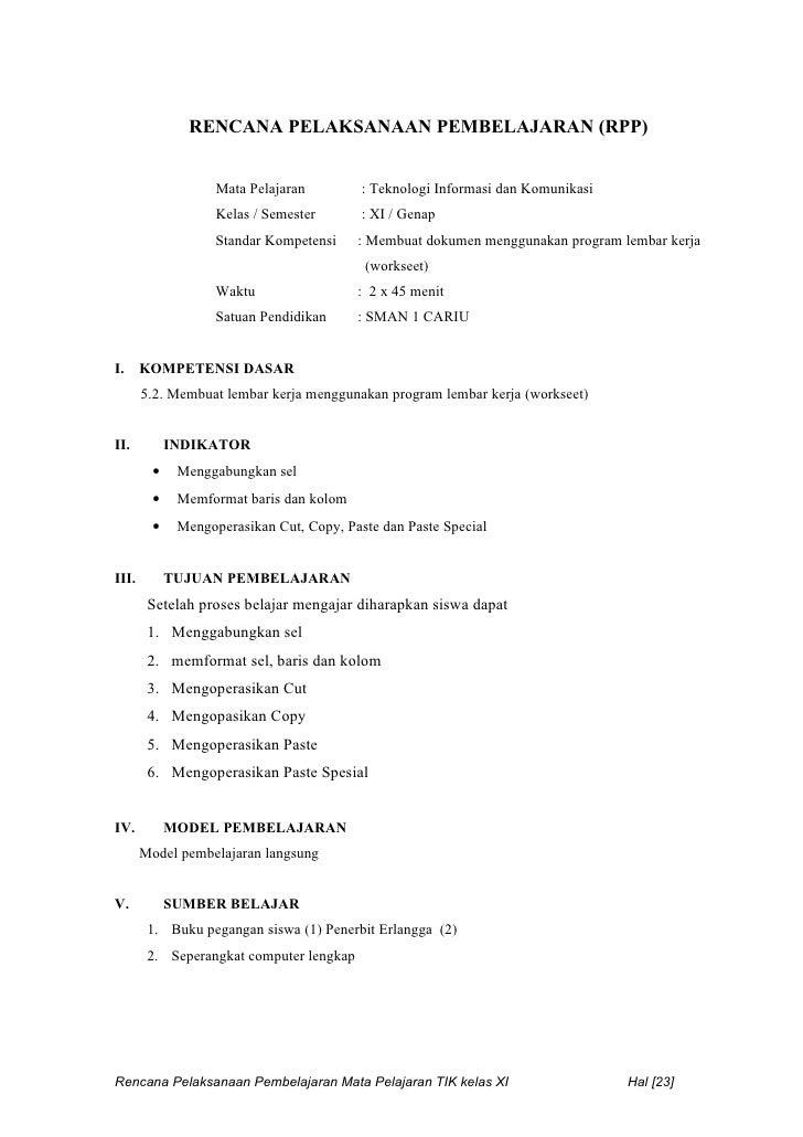Rpp Tik Ktsp 11 Semester 2
