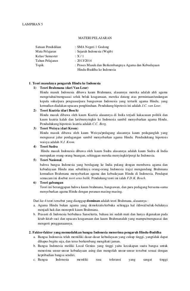 Rpp 12 Masuknya Hindu Budha