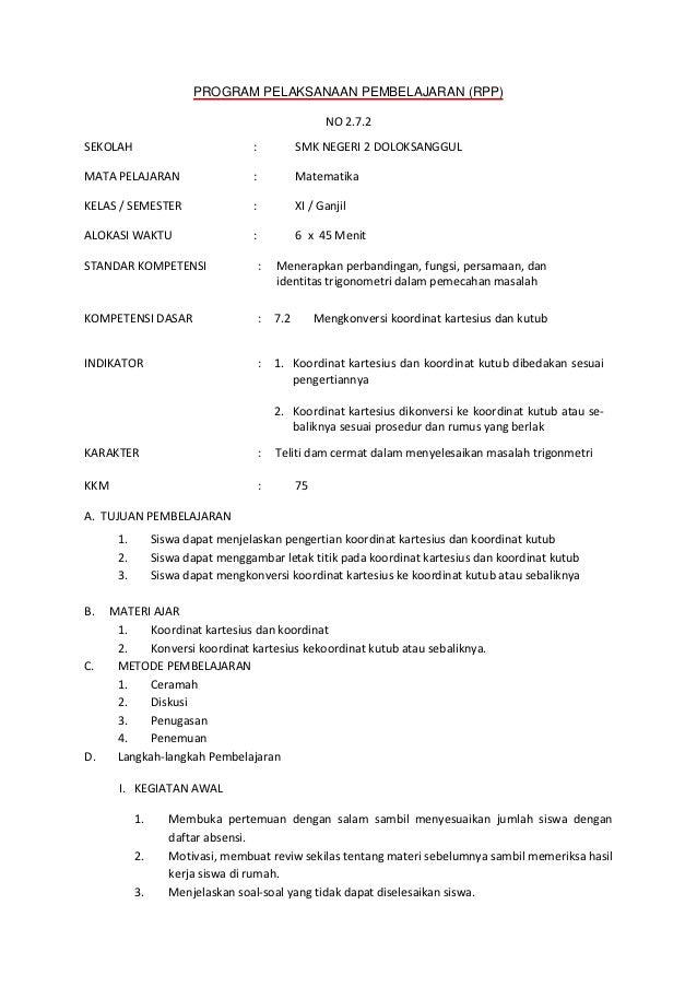 PROGRAM PELAKSANAAN PEMBELAJARAN (RPP)                                                        NO 2.7.2SEKOLAH             ...