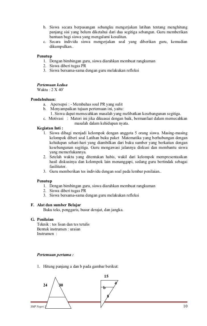 Rpp Matematika Smp Kelas Ix