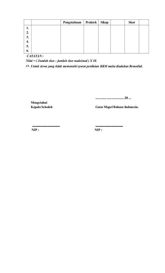 Rpp Bahasa Indonesia Kelas V Ktsp