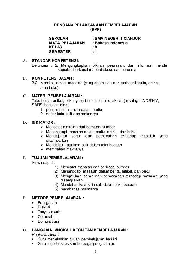 Rpp bahasa indonesia sma ktsp