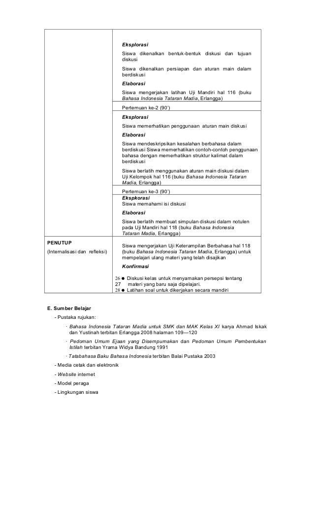 Rpp Bahasa Indonesia Smk Kelas 2