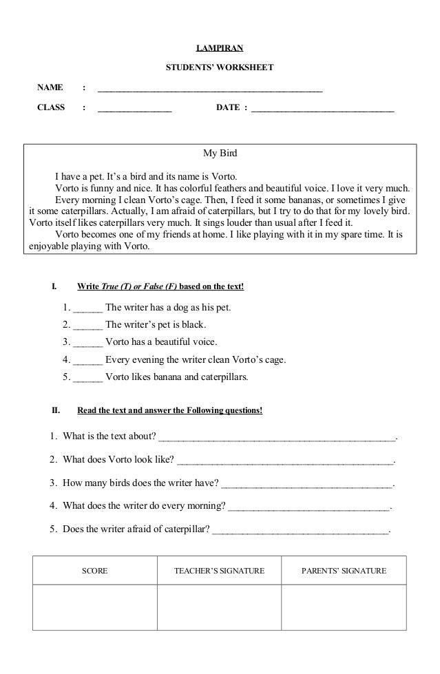 Rpp Descriptive Text Kelas 8