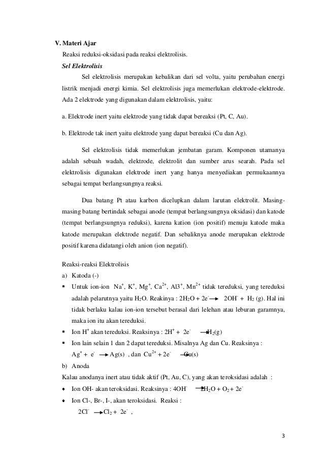 Rpp elektrolisis