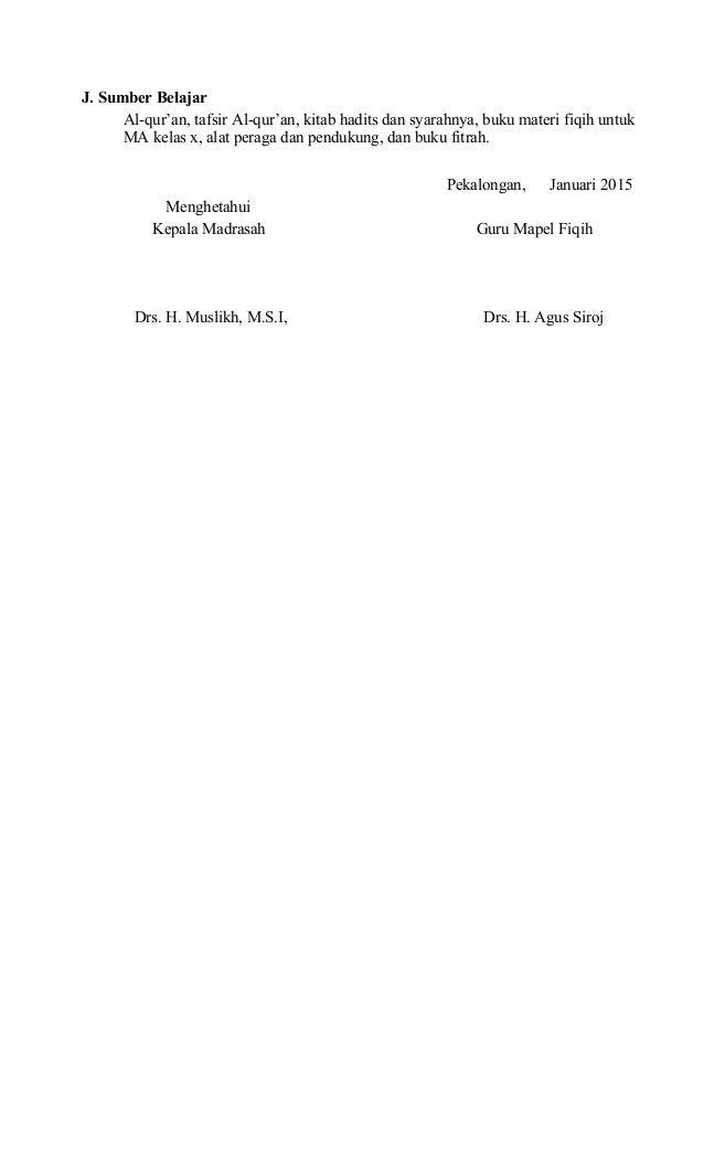 RPP Fiqih MA Kelas X Semeter 2