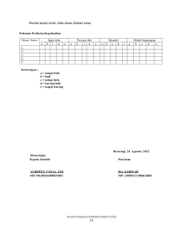 Rpp Fisika Kelas X Semester 1 Dan 2