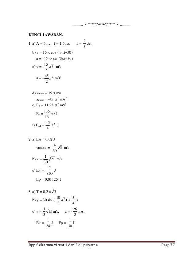Kunci Jawaban Fisika Erlangga Kelas Xi Kurikulum 2013 Kunci Masa Depan