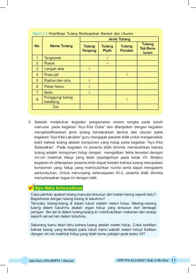 Tabel 2.2 Klasifikasi Tulang Berdasarkan Bentuk dan Ukuran  No. Nama Tulang  Jenis Tulang  Tulang  Panjang  Tulang  Pipih ...