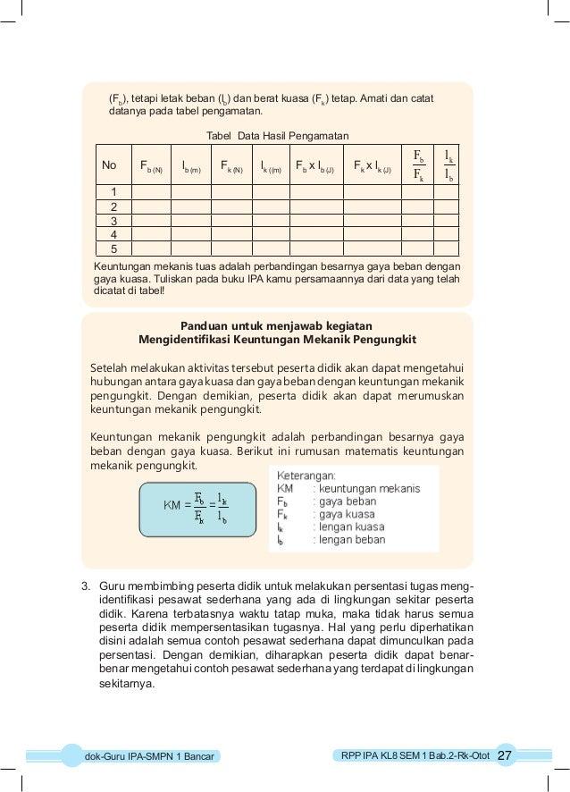 (Fb), tetapi letak beban (lb) dan berat kuasa (Fk) tetap. Amati dan catat  datanya pada tabel pengamatan.  Tabel Data Hasi...